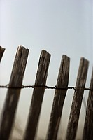 Close_up of weathered wooden fence