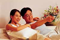 Couple Watching TV,Korean