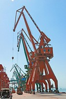 Crane on a shipping dockland