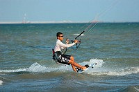 Kiteboarder in Action Singapore