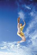 Young Woman Jumping,Korean