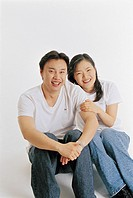 Couple Smiling, Korean