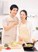 Couple in Kitchen, Korea