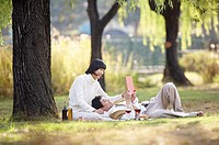 Couple Enjoying Picnic, Korea