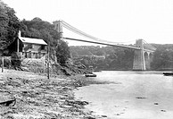 Menai, Suspension Bridge 1913