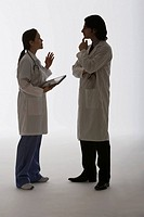Medical colleagues conversing