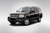 2006 Ford Expedition XLT Sport in Black - Front angle view