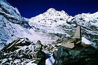 Stone Cairns, Annapurna Sanctuary, Nepal
