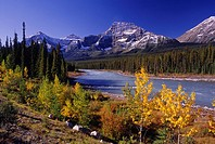 River and mountains, Banff National Park, Alberta, Canada
