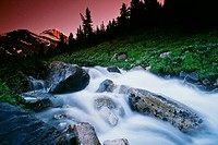 Small Stream, Skoki Valley, Banff National Park, Alberta, Canada