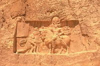 Wall relief from the site of Persepolis, Iran, Low Angle View