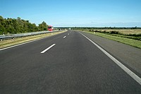 Open road a two lane toll motorway