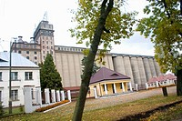 Grain storage elevators and office buildings, Rawa Mazowiecka , Central Poland