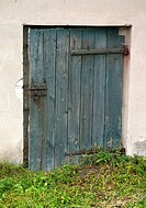 Wooden storage room door, Rawa Mazowiecka, Central Poland