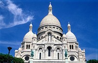 Close up of Sacre Coeur, Paris, France