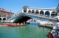 Rialto Bridge and Boat Race Venice