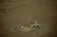 A controversial coalbed methane drilling rig near Sheridan.