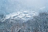 Winter view of Baekyangsa Temple,Mt  Naejangsan National Park,Jeonnam,Korea