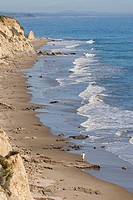 Lone beach comber at Gaviota Cove.