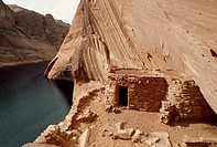 Defiance House, an Anasazi ruin that escaped flooding from reservoir.