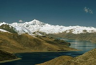 Mountains above Yamdrok Lake.
