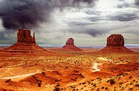 butte rock formation monument valley arizona usa