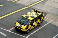 Airport 'Follow me' car (Bremen airport, Germany)