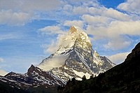 Matterhorn in Switzerland as seen from Zermatt