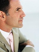 Mature businessman,profile,close_up