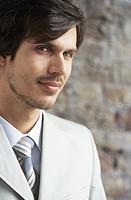 Young businessman indoors,portrait,close_up