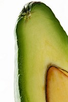 Avocado cross section, close-up, cropped
