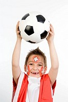 boy as Swiss soccer fan