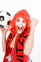 woman as Switzerland fan