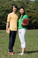Student couple in park