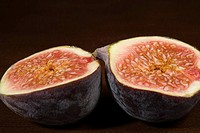 Fig cut in half