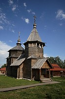 Russia, Suzdal, The Museum of Wooden Architecture and Peasant Life, Resurrection Church, Village of Kozliatyevo