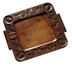 World symbols: wooden tray Africa