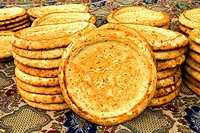 China, Xinjiang, traditional Uyghur breads