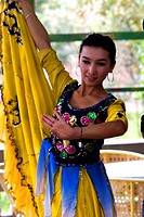 China, Xinjiang, Uyghur dancer