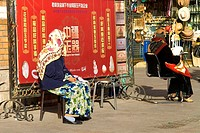China, Xinjiang, Urumqi, muslim women