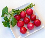 Radishes, lamb´s lettuce and parsley