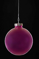 Purple Christmas bauble close_up
