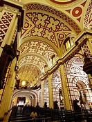 Central nave, basilica of San Francisco, Lima. Peru