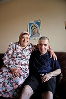 Iraqi Chaldean Catholic community in Sydney, mother and son, Australia