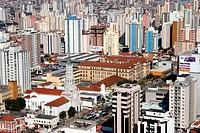 Shopping Santa Cruz, School Marista Arquidiocesano and Church Nossa Senhora da Saúde, Vila Mariana, São Paulo, Brazil