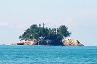 Island of the Cabras, Beach Pernambuco, Guarujá, São Paulo, Brazil