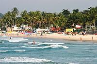 Beach of Pernambuco, Guarujá, São Paulo, Brazil