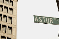 Street Sign, Astor Place, New York City, USA