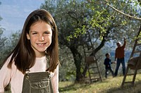 Girl in olive grove