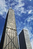 John Hancock building, Water Tower Place with Ritz Carlton Hotel  Chicago, Illinois, USA